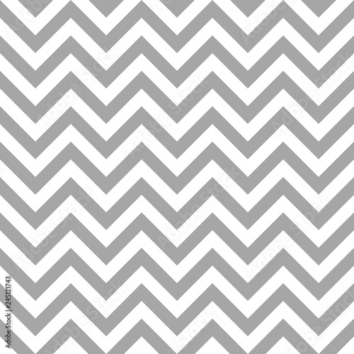Photo Retro Seamless Pattern Chevron Grey