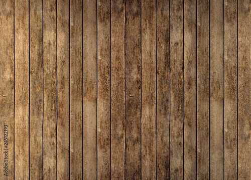 Fotografia, Obraz  Floor or wall of rustic wooden boards