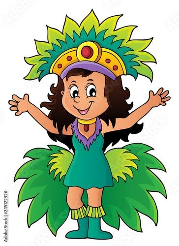 Poster Voor kinderen Happy samba dancer theme image 1