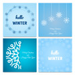 Four Winter and Christmas backgrounds