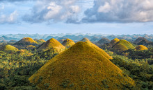 Famous Chocolate Hills Aerial Drone View, Bohol Island, Philippines