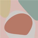Abstrakcyjne tło. Kolorowe tło geometryczne. Sztuka dekoracyjna do druku geometrycznego, Reprodukcje abstrakcyjne, Nowoczesna sztuka ścienna, Prezent do ocieplenia domu. Minimalizm, modny wektor wyciągnąć rękę - 245128342