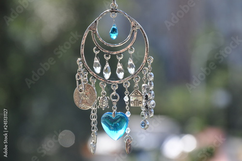 Photo Believing in magic protecting the holder of amulet