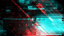 Modern Technology Background, Cyber Abstract Digital Glitch