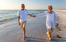 Happy Senior Couple Walking Ho...