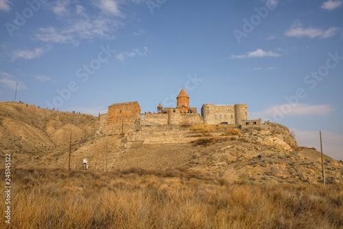 Plakat Klasztor Khor VIrap w Armenii