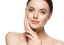 Healthy Skin Woman Beauty Face Closeup Female Cosmetic Portrait