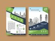 Corporate flyer, layout template. with elements and placeholder for picture.