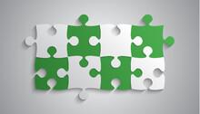 Green Grey Piece Puzzle Rectan...