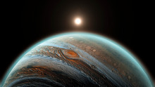 Jupiter Planet In Space, Close...
