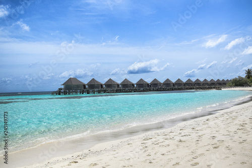 Fotobehang Oceanië Maledives, hotel locly hats.