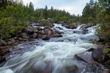 Norwegian Landscape With River Rapids Telemark Norway Scandinavia
