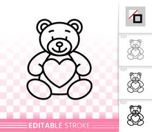 Bear Teddy Cute Toy Simple Bla...
