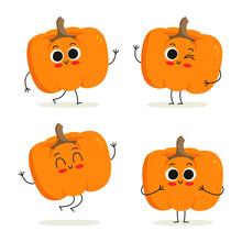 Pumpkin. Cute Vegetable Charac...