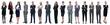 Leinwandbild Motiv success concept - collage with many business people