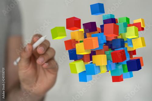 Obraz na plátně DATA cubes