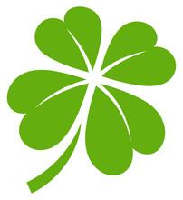 Cloverleaf 4 Leafs Green Graphic