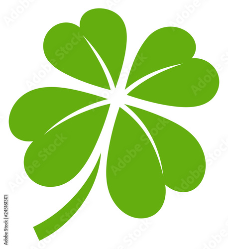 Obraz Cloverleaf 4 Leafs Green Graphic - fototapety do salonu