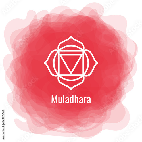 Muladhara icon Canvas Print