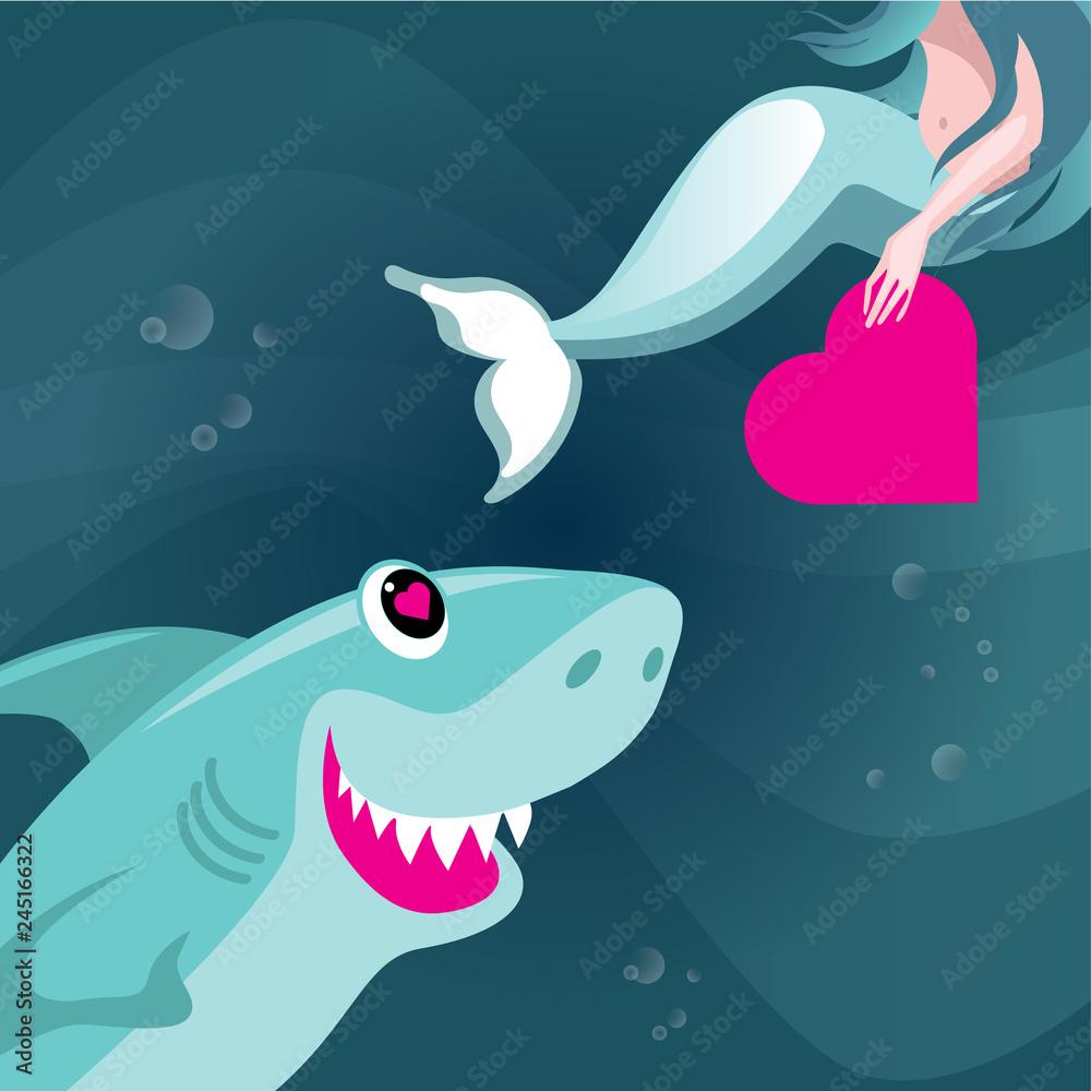 Fototapeta Walentynki w oceanie miłości