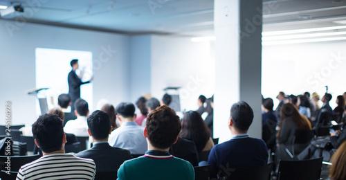 Seminar Audience in Training Room Watch Presentation Fototapet