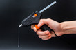 canvas print picture - Glue gun