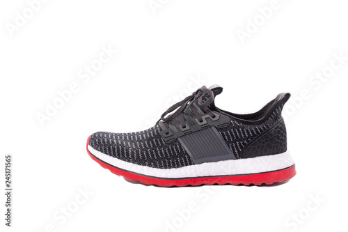 Photo Sports shoes on a white background.