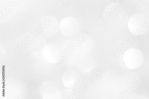 Fototapety, obrazy: A brilliant white background with circles and ovals. Template for a holiday card with bright and sparkling lights.