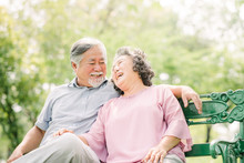 Happy Asian Senior Couple Laug...