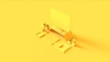 Yellow Contemporary Desk Setup...