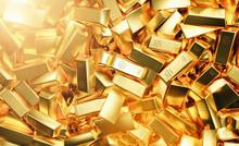 Heap Of Gold Bars. Financial C...