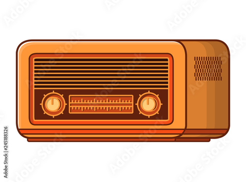 Old radio receiver last century Retro vintage technology