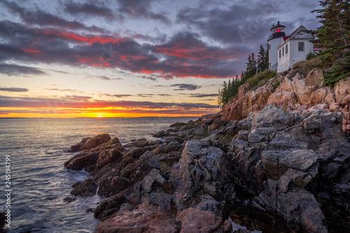 Fotografie, Obraz  Bass Harbor Head Lighthouse