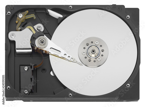 Fotografía  HDD Hard disk drive isolated on white background
