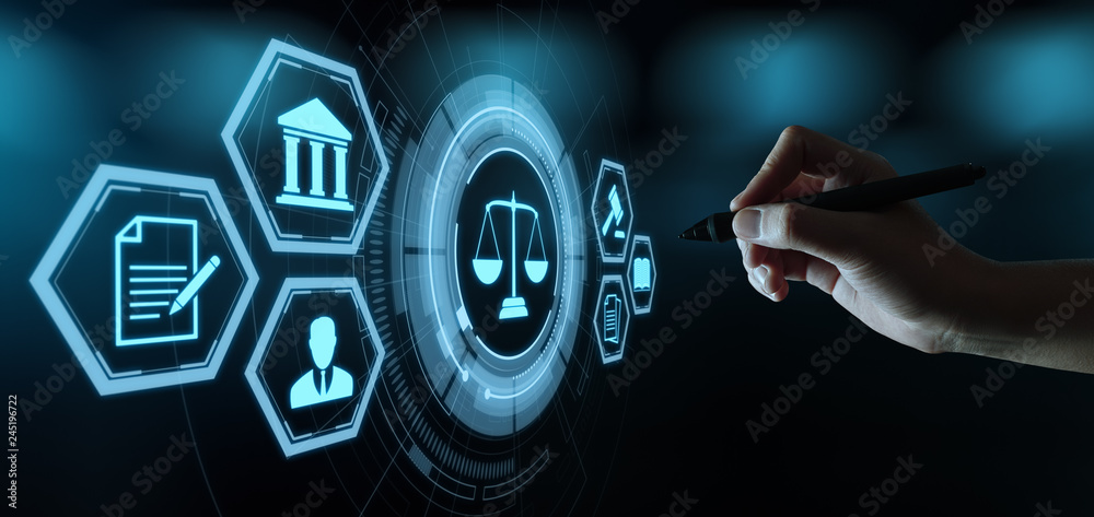 Fototapety, obrazy: Labor Law Lawyer Legal Business Internet Technology Concept