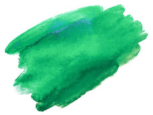 Green Watercolor Stain. Tinged...