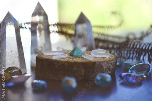Beautiful, sparkling healing crystals Fotobehang