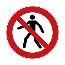 No Trespass Sign , Crossing Fo...