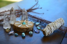 Bright, Healing Crystals And P...