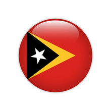East Timor Flag On Button