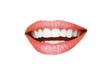 Leinwandbild Motiv Beautiful young model with beautiful lips makeup, closeup