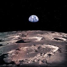 Earth Rises Above Lunar Horizo...