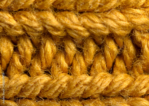 Fotografie, Obraz  Yellow wool texture, bay be used as background