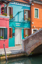 Exterior Of Colorful Houses Ne...