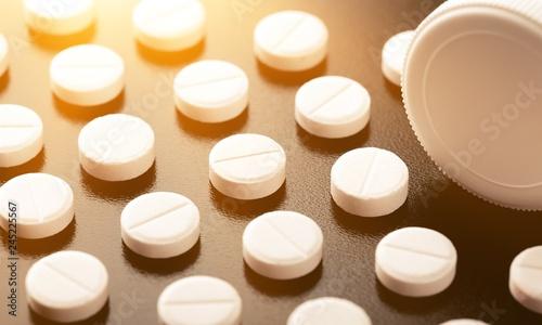 Foto Pill and tube adderall lsd oxycontin valium arranged black