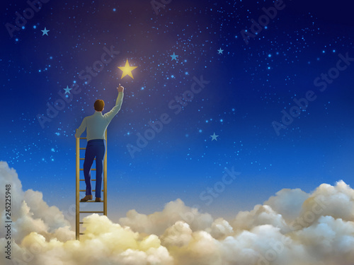 Stairs to the sky Wallpaper Mural
