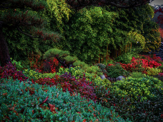 Panel Szklany Podświetlane Las Layers of Foliage