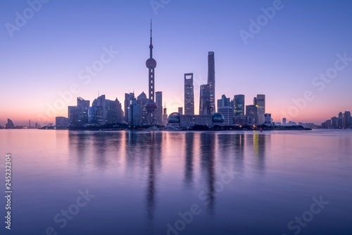 Pudong Skyline in Shanghai, China