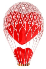 Hot Air Balloon Of Heart With ...