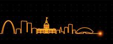Saint Louis Light Streak Skyline